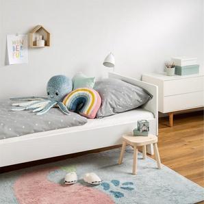 Tapis lavables pour enfants Bambini Whale Bleu 120x180 cm - Tapis lavable pour chambre denfants/bébé