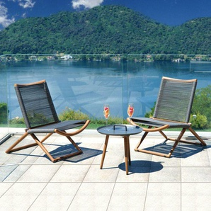 Balcony Set Bormio en aluminium effet bois | Aluminium - CAESAROO