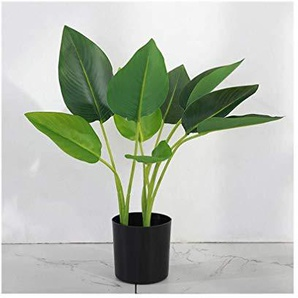Décoratif Bonsai, Grande Simulation de sol de fleurs artificielles Centre commercial Hôtel Arbre Potted Salle artificielle plante verte 116 (Size : B)