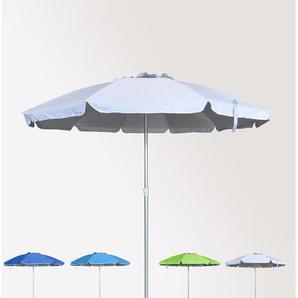Parasol de plage 220 cm aluminium antivent protection uv ROMA | Blanc - BEACHLINE