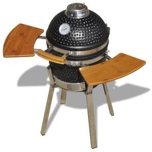 Kamado Barbecue au charbon de bois en céramique 76 cm - HOMMOO