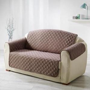 DOUCEUR dINTERIEUR Protège fauteuil matelassé Club 165x179 cm noisette