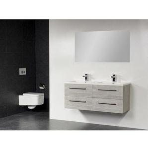 Saniclass Bologna Meuble salle de bain avec miroir 120cm avec 4 tiroirs Beach SW18111