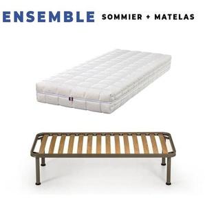 Matelas 90x190 + Sommier + pieds + Oreiller M - KING OF DREAMS