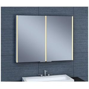 Armoire de toilette aluminium - Modèle NEV 90 - 70 cm x 90 cm (HxL) - PRADEL