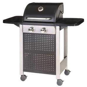 Barbecue à gaz 2 brûleurs mobile 4 roues - L 52 x l 116 x H 110 - MA MAISON MES TENDANCES