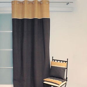 SOLEIL DOCRE Rideau à Œillets Jute 140x240 cm - 100% coton - Gris