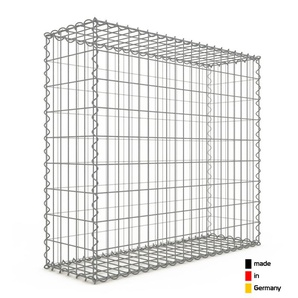 Gabion 100x90x30cm « made in Germany » - mailles rectangulaires 5x10cm - GABIONDECO