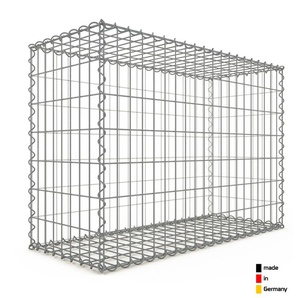 Gabion 100x70x40cm « made in Germany » - mailles rectangulaires 5x10cm - GABIONDECO