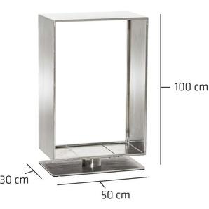 Porte-bûches Basil en acier 30x50x100 cm - CLP