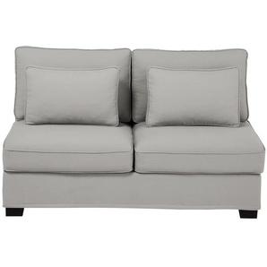 Chauffeuse de canapé 2 places en coton gris clair Milano