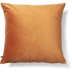 Kave Home - Housse de coussin Lita 45x45 cm velours orange
