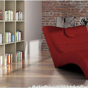 JUSTyou Londres Fauteuil relax 84-76x170x92 cm Rouge