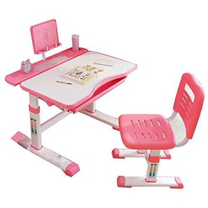 Bureau pour enfants relevable, ensemble table et chaises denfant réglables en hauteur, bureau pour enfants avec tiroirs, convient aux écoles, chambres denfants, unisexe bleu et rose