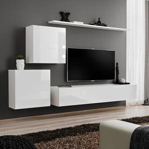 Meuble TV complet blanc design PADULA 3