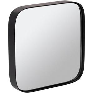 Miroir carré en bois noir L50xH50cm