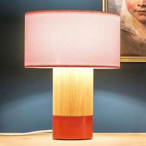 Lampe table Klippa corail chintz rose poudré 31cm