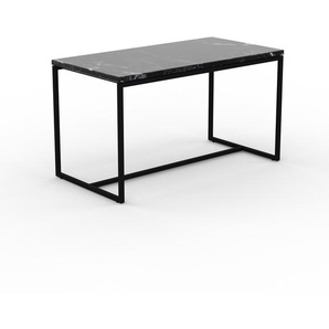 Table basse en marbre Noir Marquina, design contemporain, bout de canapé luxueux et sophistiqué - 81 x 46 x 42 cm, personnalisable