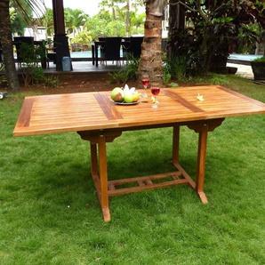 Table de jardin en Teck huilé rectangulaire - 8 places: Lombok
