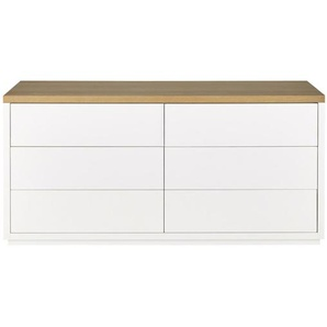 Commode blanche 6 tiroirs Austral
