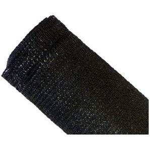 Brise-vue 90% - Noir - 185g/m² - Boutonnières Noir 2m x 50m - MAILLESTORE