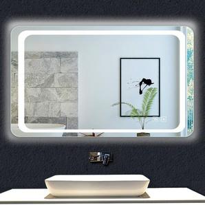 OCEAN Miroir de salle de bain 100x60cm anti-buée miroir mural avec éclairage LED modèle Classique plus - OCEAN SANITAIRE