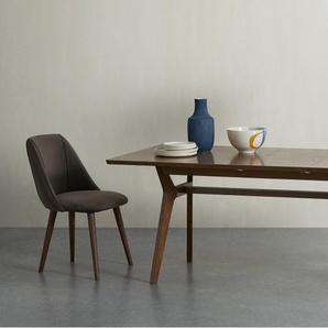 Jenson, table extensible 6 à 8 personnes, chêne teinté foncé