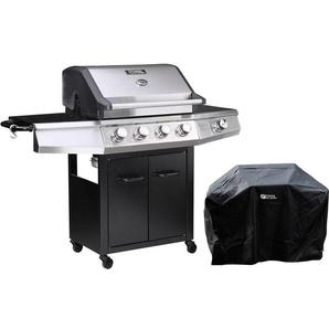 Barbecue gaz Bingo 5 - 5 Brûleurs dont 1 latéral - 15.2kW + Housse protection - Noir - HABITAT ET JARDIN
