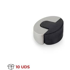 Boîte avec 10 Adhésif pour butée de porte de marque REI, en acier inoxydable, avec finition en acier inoxydable mat et forme elliptique