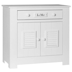 Commode blanche Plage en pin