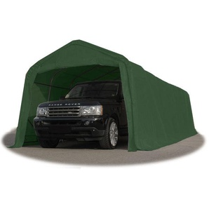 Tente-garage carport 3,3 x 7,2m délevage abri agricole tente de stockage bâche 550g/m² armature solide vert fonce - INTENT24.FR