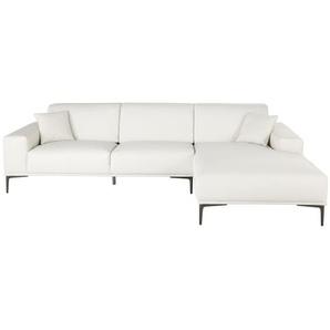 Canapé dangle droit 5 places en cuir blanc Tokyo