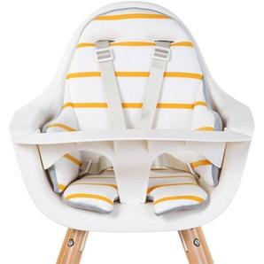 Childhome Coussin de Chaise Haute Jersey - Ochre Stripes