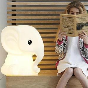ANANA-Lampe à poser LED Eléphant H51cm Blanc Mr Maria