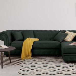 Branagh, canapé d'angle avec méridienne à droite, gris anthracite