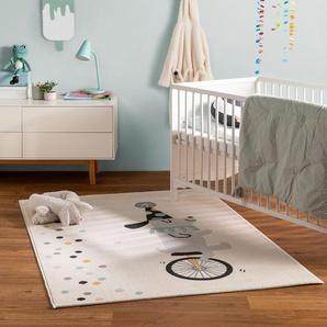 Tapis enfant Juno Crème 120x170 cm - Tapis pour chambre denfants/bébé