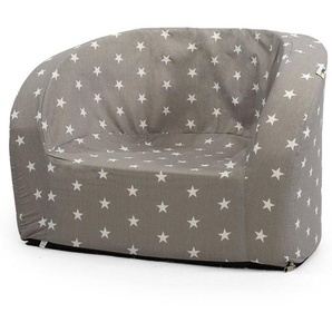 Misioo Fauteuil Club - Gris et Etoiles Blanches