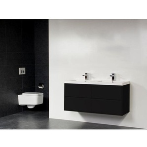 Saniclass New Future Foggia Meuble salle de bains 120cm sans miroir noir