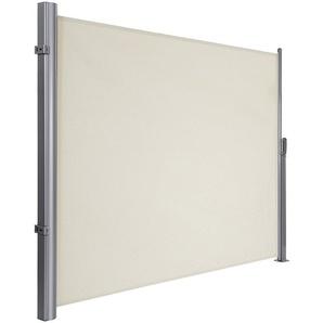 Alu Store latéral 300 x 180cm Auvent rétractable extérieur brise vue pour terrasse Certifié par TÜV SÜD 280 g/m² polyester GSA180E - SONGMICS
