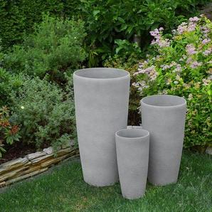 Vase gris en forme ronde ABDERA