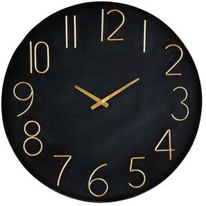 Horloge en métal noir et doré D76