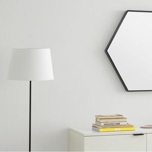 Essentials - Bex, miroir hexagonal fini laqué 78 x 68 cm, noir