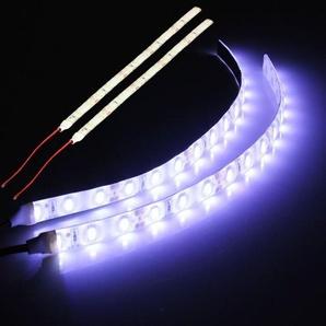 2x blanc 15 LED 5630 SMD lampe de lumières de bande flexible 12V pour bateau de voiture étanche Sasicare - SOOCAS