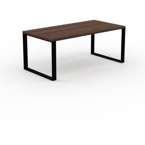 Bureau - Noyer, design contemporain, table de travail, fonctionnelle - 180 x 75 x 90 cm, modulable