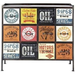 Cabinet de rangement indus en métal multicolore L 107 cm Customs