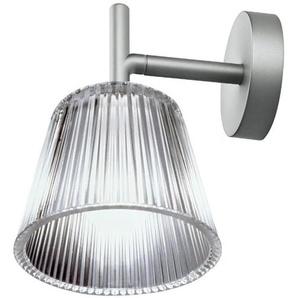 ROMEO BABE W-Applique Argent/Verre H17cm Transparent Flos - designé par Philippe Starck