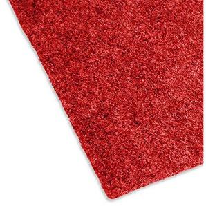 casa pura Moquette dextérieur Ruby Rouge au mètre | revêtement de Sol Outdoor - pour Jardin, terrasse, Balcon etc. | avec Certificat Pare-feu CFLS1 | 350x200cm