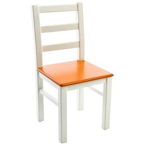 Kinderbunt Marie - Chaise d'Enfant bicolore - blanc/orange