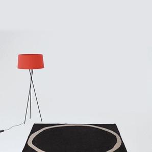 Nanimarquina Tapis Aros square - noir - 200 x 200cm