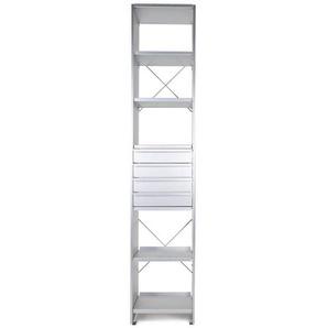 Lehni Aluminium - Etagère de bureau - aluminium/avec tiroirs/ 7 étagères